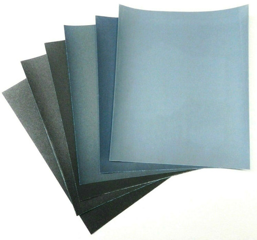Matador 6 Sheet Assortment Wet Dry Sandpaper Abrasive Sanding Paper 800-2500 Grt