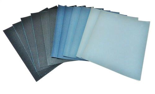 Matador 12 Sheet Assortment Wet or Dry Sandpaper Abrasive Sanding Paper 6 Grits