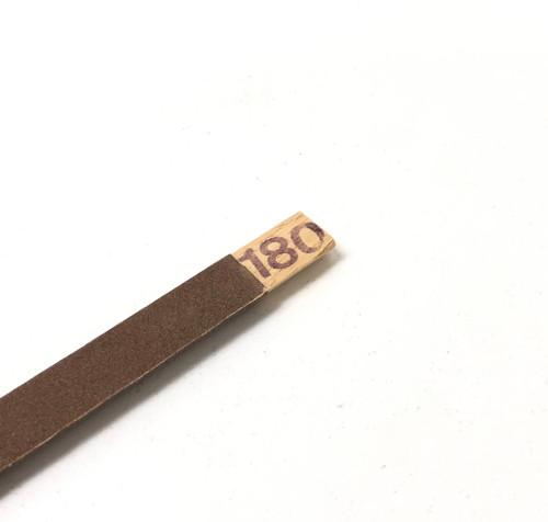 Emery Sanding Stick Half Round 180 Grit Abrasive Filing High Quality