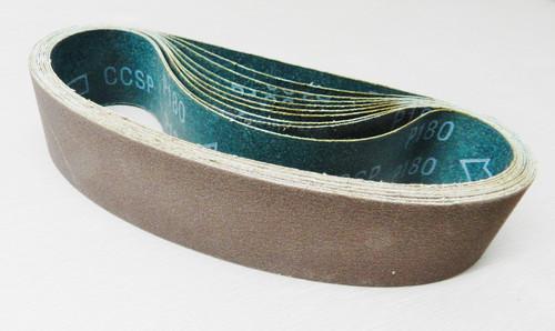 "6"" Abrasive Sanding Belt 180 Grit pack of 10 for Expanding Drum Sander Aluminum Oxide"