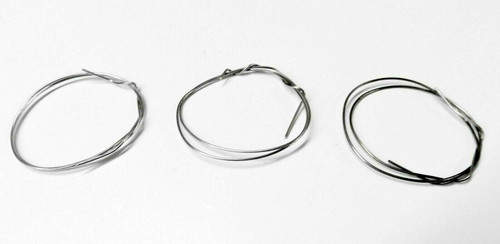 "Silver Solder Wire Assorted Pack 3 Pieces 12"" Each Soft Medium & Hard Jewelry"