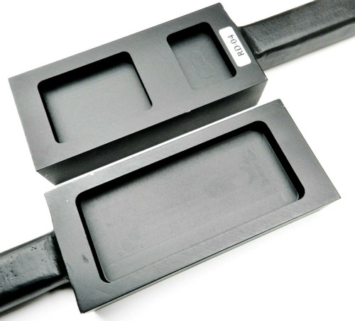 Cast Iron Ingot Open Cavity 3 Pocket for Bars & Plates 200gr 500gr & 1000gr A-1