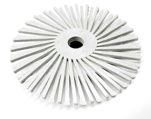"3M Radial Bristle Discs 3"" White  bristle brush 50 Grit Coarse"