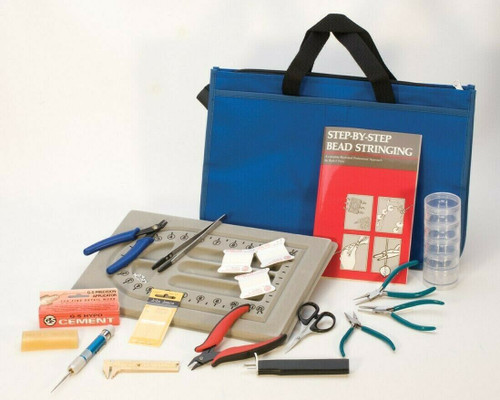 Bead and Pearl Stringing Kit Beading Jewelry Making Tools Set Basic + Book & DVD
