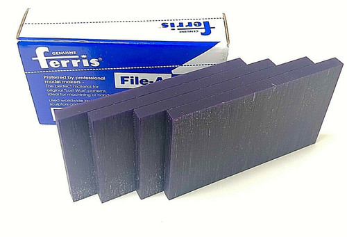 "Ferris Carving Wax Tablets Purple Wax 3/8"" Thick 6""x3-1/2"" Flat Bars 4-Pcs 1lb"
