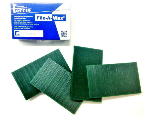 "Ferris Carving Wax Tablets Green Wax 3/8"" Thick 6""x3-1/2"" Flat Bars 4-Pcs 1lb"