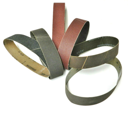 "6"" Abrasive Sanding Belt for Expanding Drum Sander Aluminum Oxide 6Pcs Assortment"