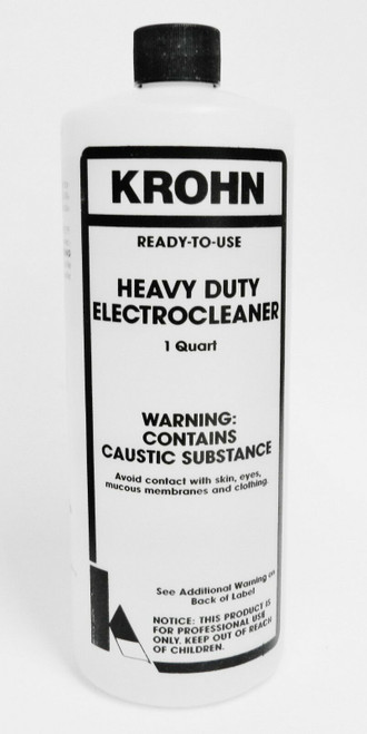Krohn Stainless Anode and Heavy Duty Electro Cleaner Solution Electroclean Plating