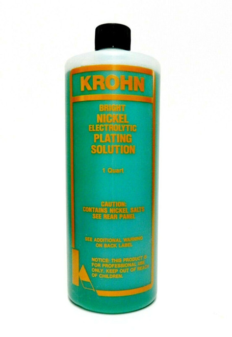 Copper and Nickel Plating Solutions and Anodes By Krohn - Set 2 Quarts & 2 Anodes