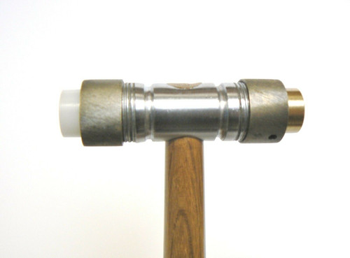 """Hammers Brass and Nylon with Detachable Faces 4oz Hammer 1/2"""" Face Jewelry Making"""