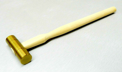 "Brass Hammer 5/8"" Flat Face & Domed 2"" Head 3oz Solid Brass Jewelry Work Hammer"