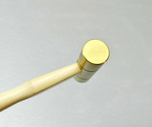 "Brass Hammer 5/8"" Flat Face & Domed 2"" Head 3oz Solid Brass Jewelry Work Hammer"