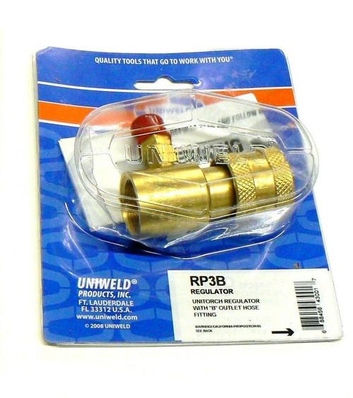Artorch Uniweld Regulator Preset Disposable Tank RP3B Propane -Mapp Little Torch