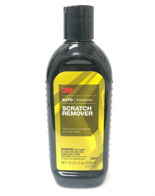 3M Scratch Remover 39044 White Liquid 8 fl oz Rubbing Compound Made in USA