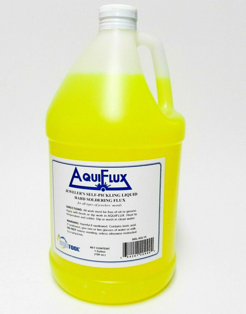 Aquiflux Self Pickling Flux Gold Silver Jewelry Hard Soldering 1 Gallon Bottle