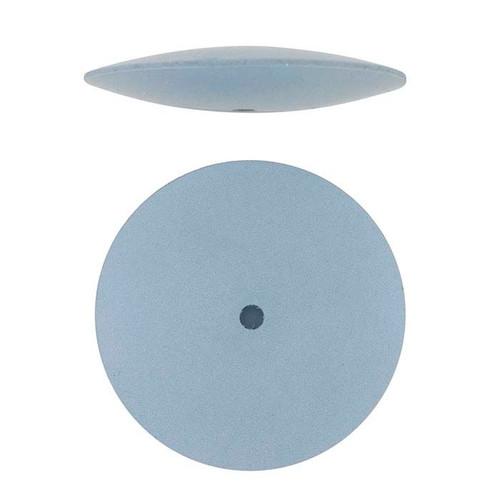 "Jewelry Silicone Polishing Wheels Knife Edge Blue Fine 7/8"" EVE Pack of 10"
