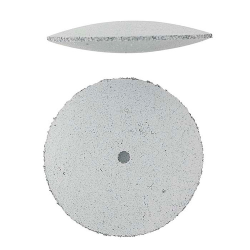 "Jewelry Silicone Polishing Wheels Knife Edge White Coarse 7/8"" EVE Pack of 10"