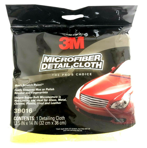"3M Microfiber Detail Cloth 12.5"" x 14"" Non scratching for Paint Dashboards 39016"