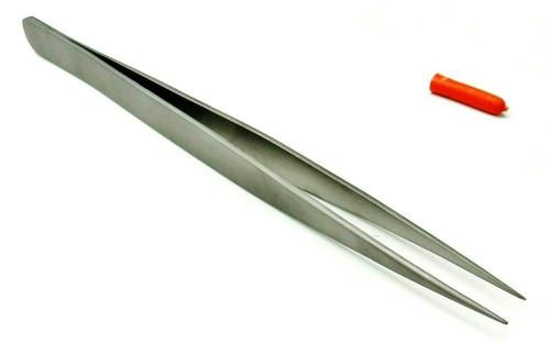 """Titanium Tweezers 6-1/8"""" Long Fine Tip Non Magnetic High Temperature Soldering"""