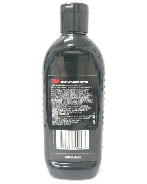 3M Scratch Remover 39044S White Liquid 8 fl oz Rubbing Compound Made in USA