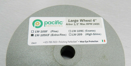"Silicone Wheels 4"" x 1/2″ Wheel Extra Fine Polisher 220 Grit Pacific Abrasive"