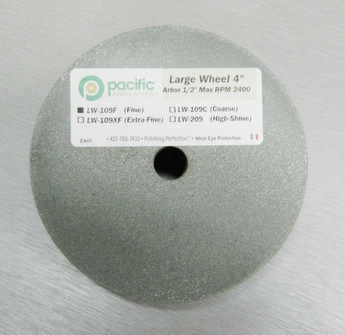 "Silicone Wheels 4"" x 1/2″ Wheel Fine Polisher 180 Grit Pacific Abrasive Italy"