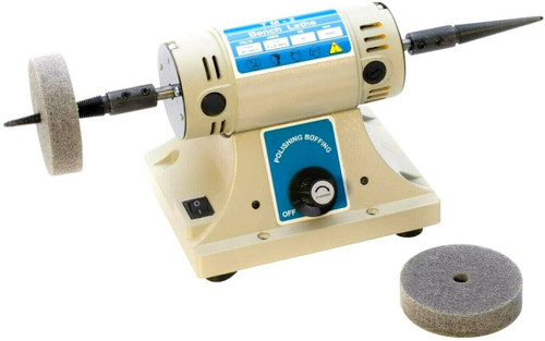 Bench Top Polisher Variable Speed Jewelry Hobby Craft Workshop Buffer Polishing