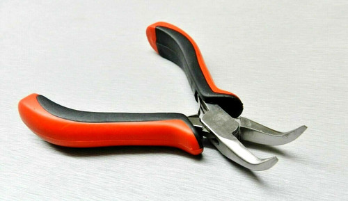 """Bent Nose Pliers 45º Smooth Jaws Jewelry Making Hobby Craft Wire Work 4-1/2"""""""