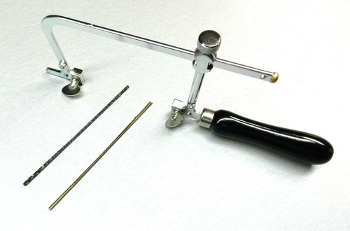 Jewelers Saw Frame + 24 Blades 2 Types for Metal-Wood-Wax Jewelry Hobby & Crafts
