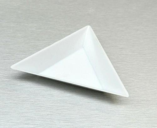 5 White Plastic Triangle Sorting Trays Gemstone Rhinestones Crafts Bead Work