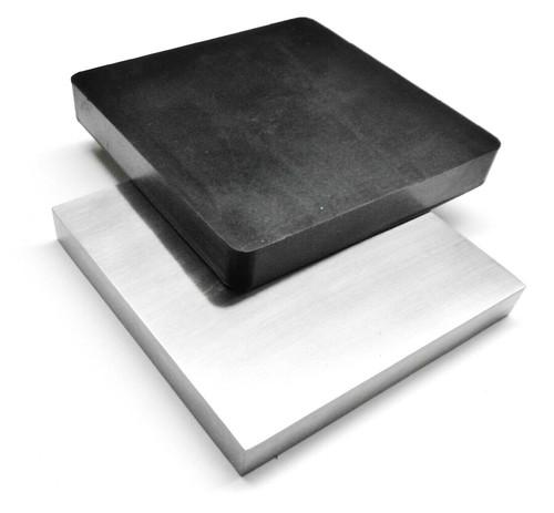 "6"" Steel & Rubber Blocks SET of 2 Bench Blocks Jewelry Making Metalsmith Work"