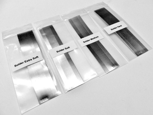 Silver Solder 4Sheets Assortment Jewelry Soldering X-Soft Soft Medium Hard 20Dwt