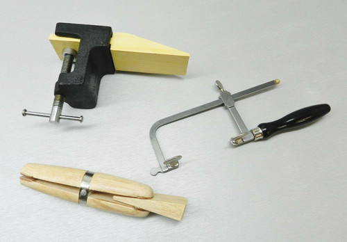Bench Pin Anvil Block w-Clamp Jewelers Saw Frame & Ring Clamp Jewelry Making Set