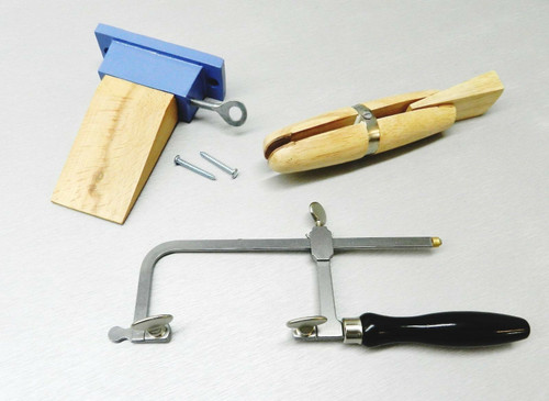 Jewelry Making Set of 3 Bench Pin Jewelers Saw Frame Ring Clamp Jewelers Tools