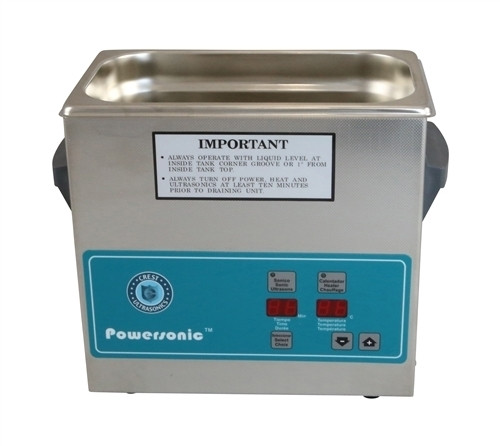 Crest Ultrasonic P1800H-45 with Timer and Heater 5.25 Gallon Powersonic Tabletop 115 Volt