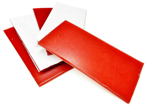 "Red Utility Wax Sheet Soft Wax 3x6 x 3/16"" Thick Justi-Red by Ferris Freeman"