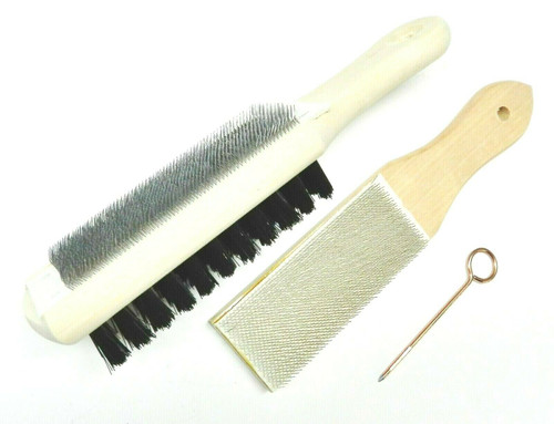 File Card Cleaner Set of 2 File Card & Combination with Brush + Pick Lutz 10 20