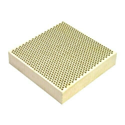 "Ceramic Honeycomb Block  4"" x 4"" Soldering Plate with Holes Jewelry Heat Board"