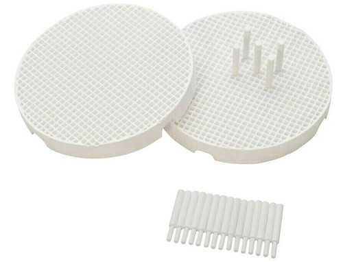 Soldering Mini Honeycomb Boards and Pins - Set of 2 with 20 Ceramic Pins