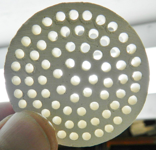 Ceramic Honeycomb Block Soldering Plate Round Alumina Jewelry Solder Heat Board