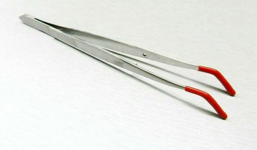 Tweezers Bent Tip Tweezer with Rubber Tips PVC Coated Jewelry Hobby Crafts Tools