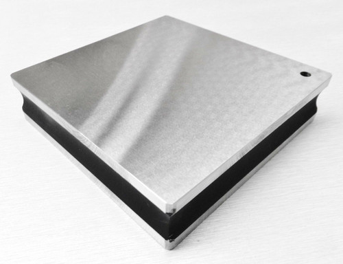 """4"""" Steel Bench Block Flat Smooth Anvil Grooved Sides Jewelry Making A1 Premium"""