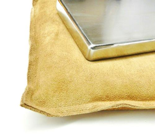 "10"" Leather Sandbag and 4""x6"" Steel Bench Block Anvil Dapping Metal Working Set"