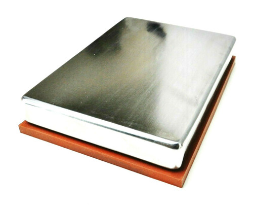 Jewelry Making Steel Bench Block Rounded Edges Anvil with Non Skid Rubber Pad