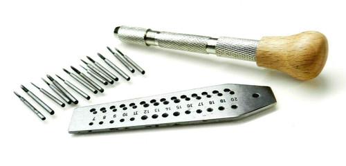 Mini Tap and Die Jewelers Set 14 Taps & Screwplate & Swivel Vise Set 0.7-2mm