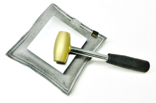 Steel Bench Block - Sand Bag & Brass Mallet Jewelry Metal Working Tools Set of 3