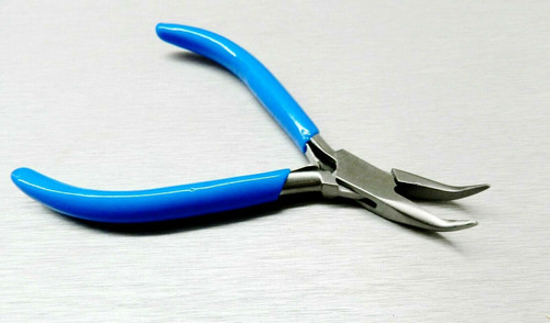 Plier Bent Nose Smooth Tips Slim Line Jewelry Hobby Wire Work Pliers 7 Series