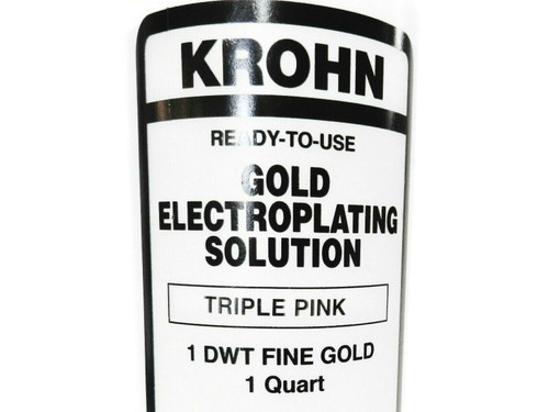 Krohn Triple Pink Rose Gold Plating Solution 1 DWT Ready to Use Electroplating