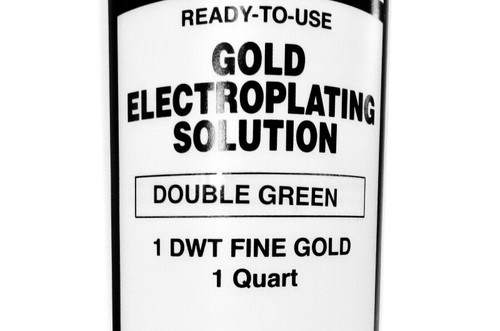 Krohn Double Green Gold Plating Solution 1 DWT Ready to Use Electroplating Quart