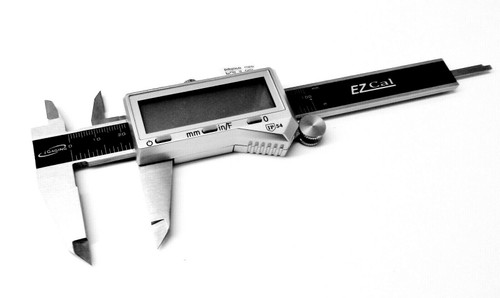 """iGaging 4"""" Digital Electronic Caliper Fractional 3 Way LCD Stainless EZ Cal"""